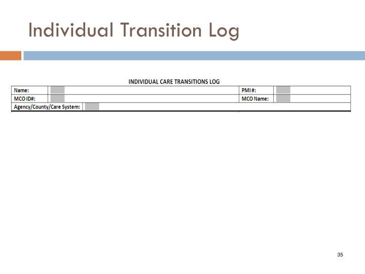 Individual Transition Log