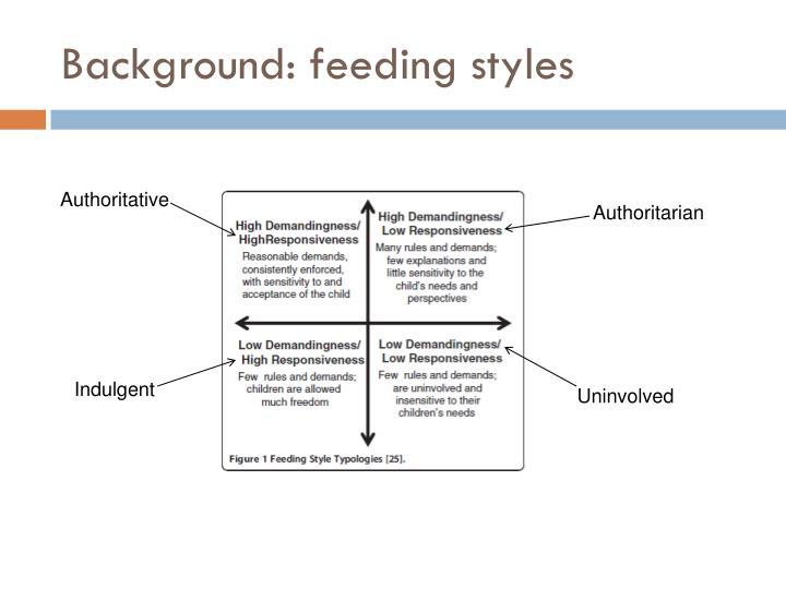 Background: feeding styles