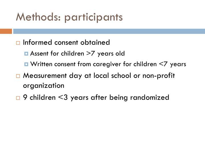 Methods: participants