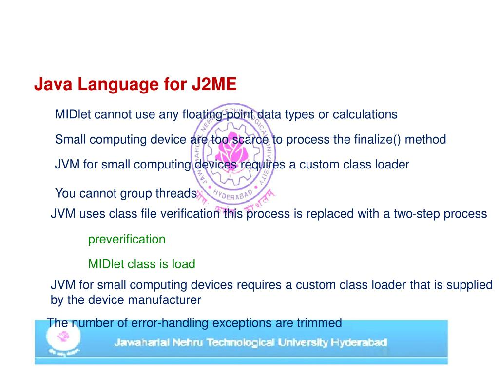 PPT - J2ME Architecture and Development Environment PowerPoint
