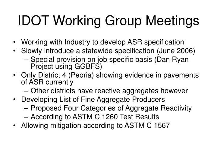 IDOT Working Group Meetings