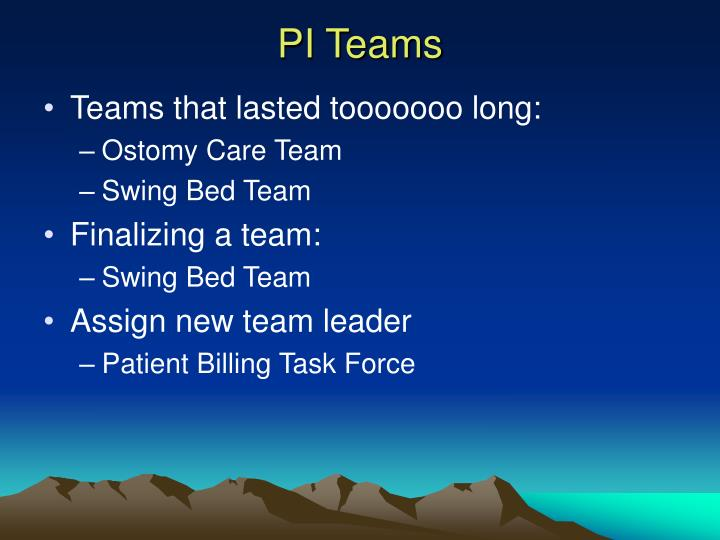 PI Teams