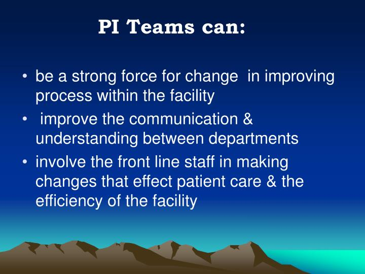 PI Teams can: