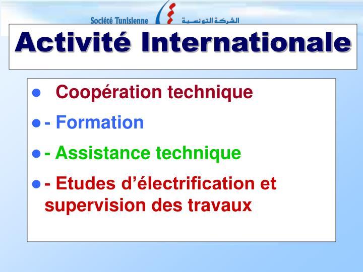 Activit internationale