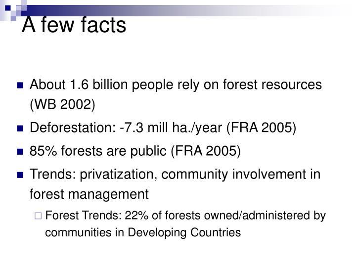 A few facts