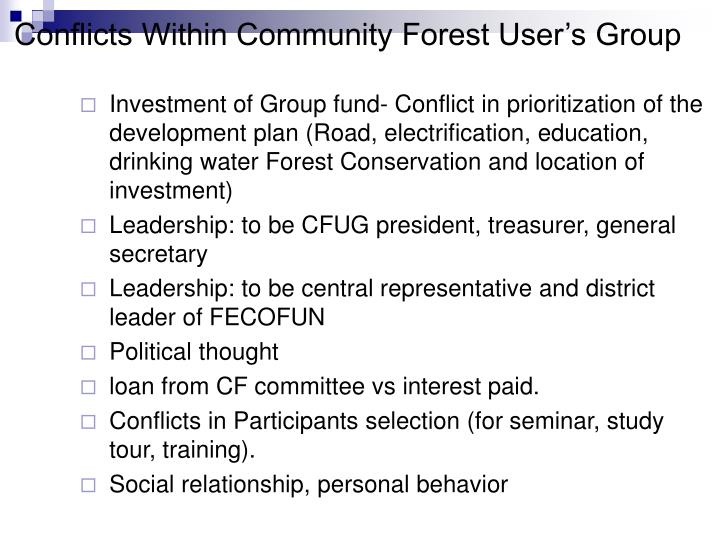 Conflicts Within Community Forest User's Group