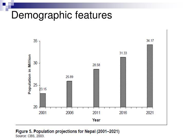 Demographic features