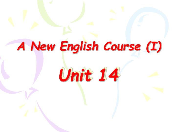 a new english course i n.