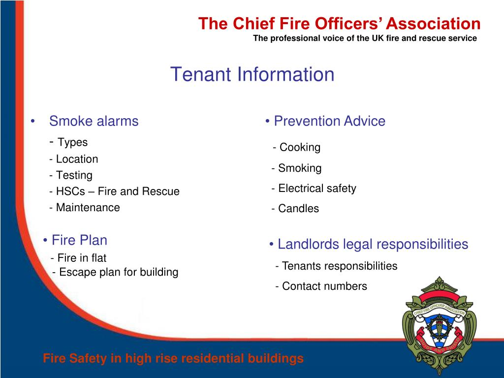 PPT - Fire Safety in high rise residential buildings Role of the