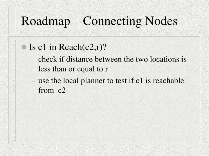 Roadmap – Connecting Nodes