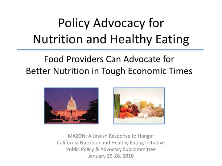 policy advocacy for nutrition and healthy eating n.