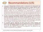 recommandations 1 5