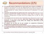 recommandations 2 5