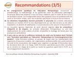 recommandations 3 5