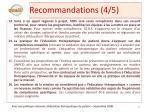 recommandations 4 5