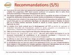 recommandations 5 5