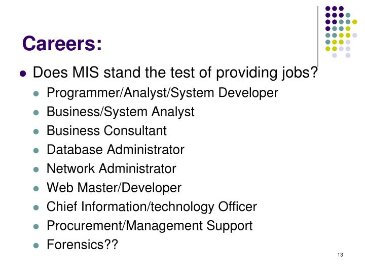 Careers: