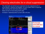 clearing electrodes for e cloud suppression