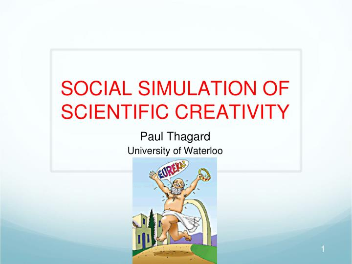 social simulation of scientific creativity n.