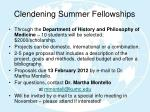 clendening summer fellowships