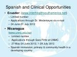 spanish and clinical opportunities