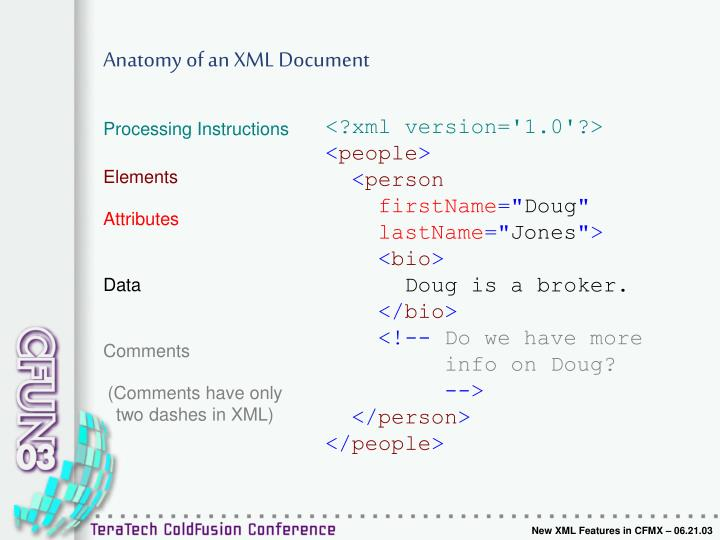 Ppt New Xml Features In Cfmx 062103 Samuel Neff Powerpoint