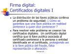 firma digital certificados digitales i