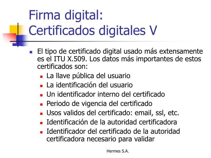 Firma digital: