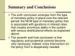 summary and conclusions4