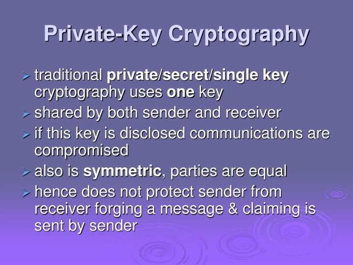 Private key cryptography