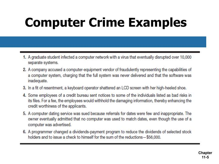 an analysis of computer network security measures and laws to curb computer crime Examples of computer crimes computer crime laws in many states prohibit a person from performing certain acts without authorization, including be extremely careful when giving out sensitive personal information such as social security numbers and bank account social network, cybercrime and internet sex crimes computer crimes are the wave of the future, even if they're.