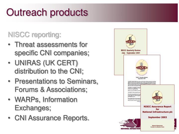 NISCC Assurance Report