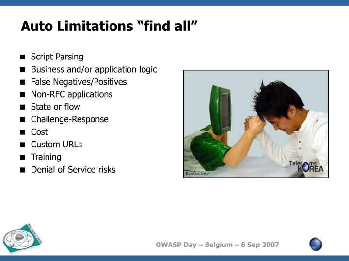 """Auto Limitations """"find all"""""""
