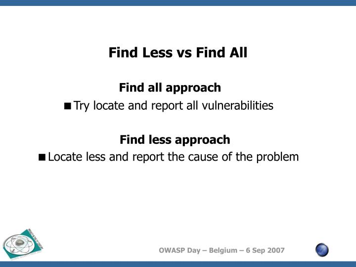 Find Less vs Find All
