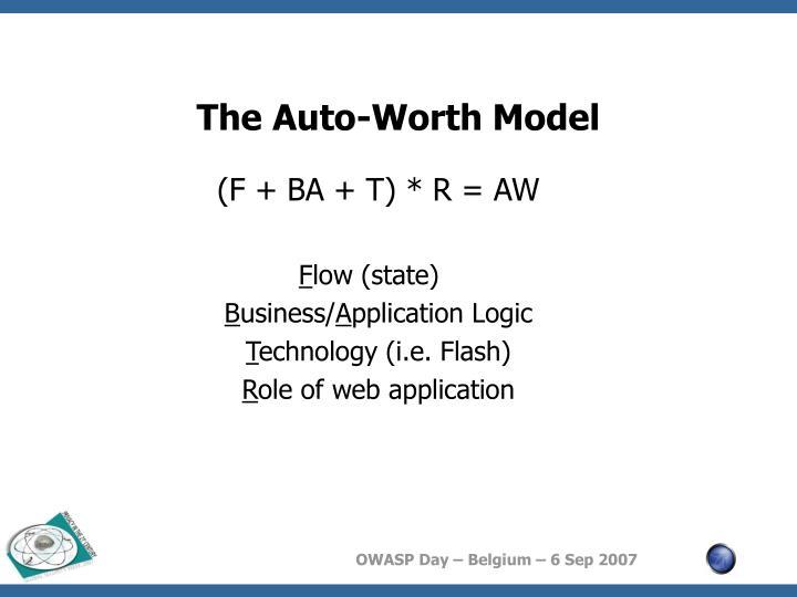 The Auto-Worth Model