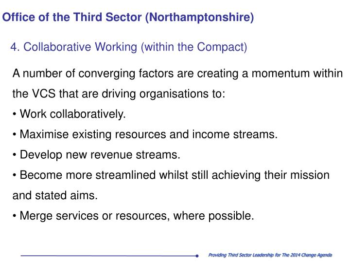 4. Collaborative Working (within the Compact)
