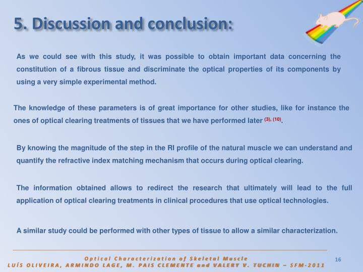 5. Discussion and conclusion:
