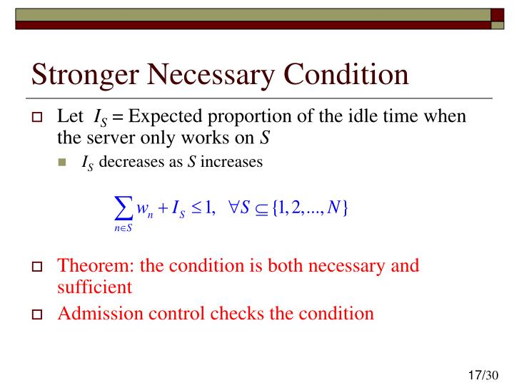 Stronger Necessary Condition