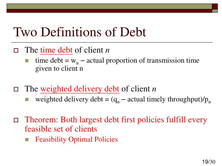 Two Definitions of Debt