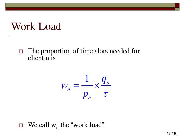 Work Load