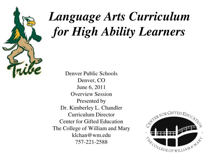 language arts curriculum for high ability learners n.