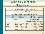 example 2 2 klingon corporation
