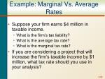 example marginal vs average rates