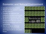 economic and natural environment