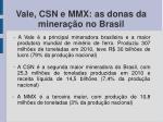 vale csn e mmx as donas da minera o no brasil