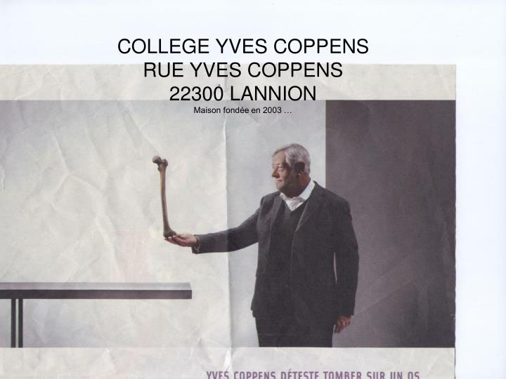 COLLEGE YVES COPPENS