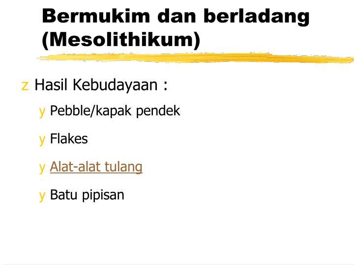 Bermukim dan berladang (Mesolithikum)