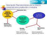 descripci n macroecon mica de la relaci n comercial entre producci n e industria