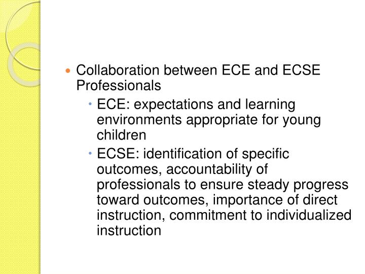 Collaboration between ECE and ECSE Professionals