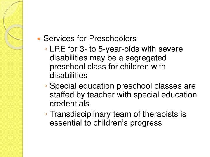 Services for Preschoolers